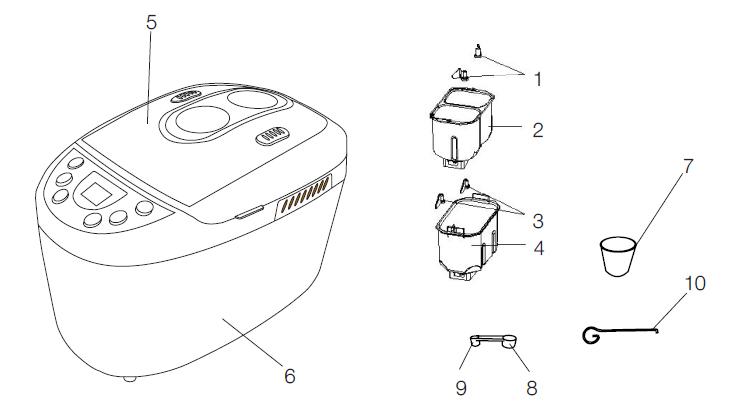 Arçelik K-2715 Ekmek Yapma Makinesi Teknik Özellikleri
